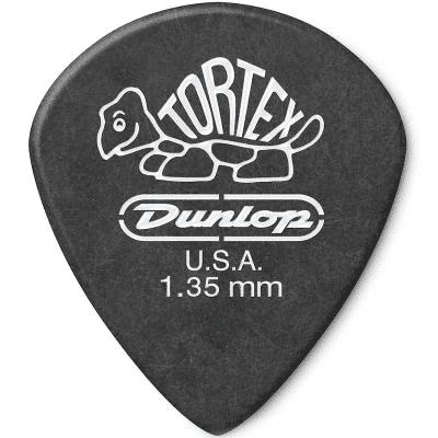 Dunlop 498P135 Tortex Jazz III XL 1.35mm Guitar Picks (12-Pack)