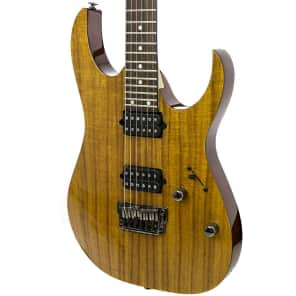 Ibanez RG652KFX-KB Prestige 500 RG Series HH Electric Guitar Koa Brown