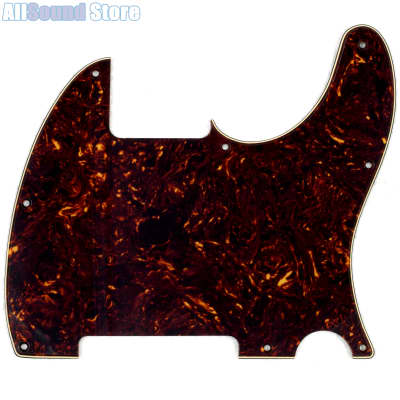 3-Ply VINTAGE TORTOISE Pickguard for USA MIM Standard Fender® ESQUIRE Telecaster Tele 8-Hole