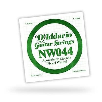 D'Addario Single Nickel Wound .044 String