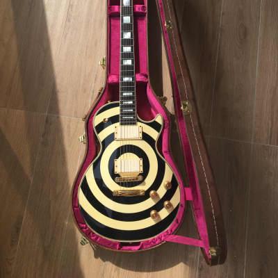 Gibson Les Paul Custom Zakk Wylde Bullseye with Ivory EMG Set + COA & Case for sale