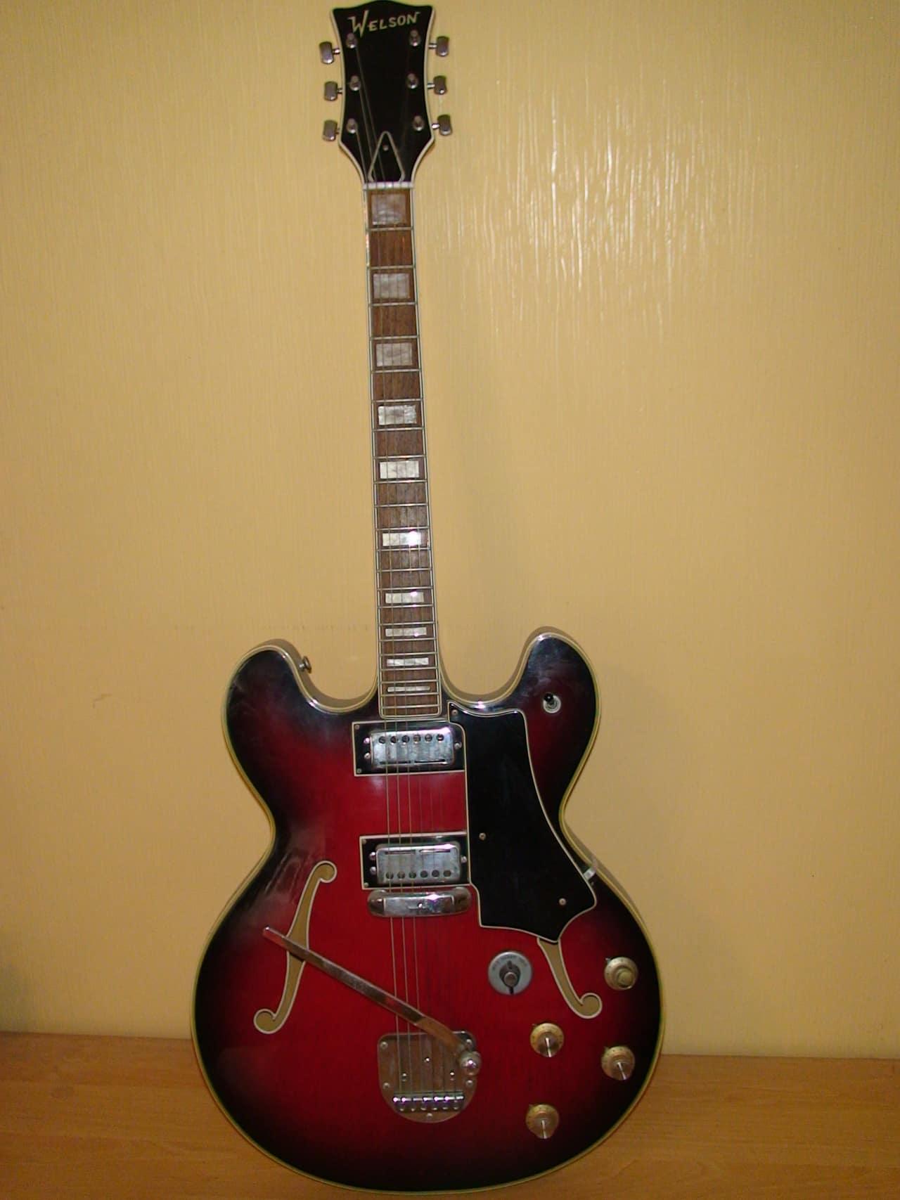 welson electric guitar 1960 very vintage reverb. Black Bedroom Furniture Sets. Home Design Ideas
