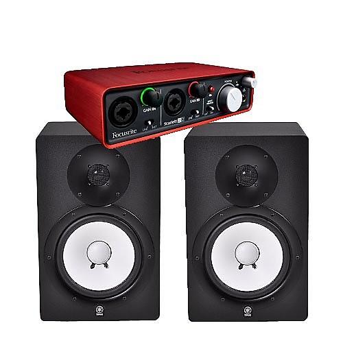 yamaha hs8 studio monitor speakers pair w focusrite reverb. Black Bedroom Furniture Sets. Home Design Ideas