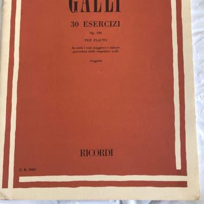 Galli 30 Esercizi Op. 100 Per Flauto Ricordi Sheet Music Song Book