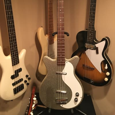 Danelectro 59DC Long Scale Bass Silver Sparkle for sale