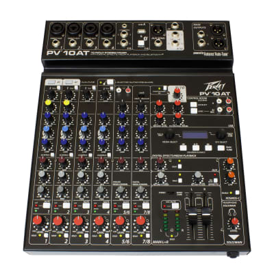 Peavey PV 10 AT 10 Channel Mixer with Autotune