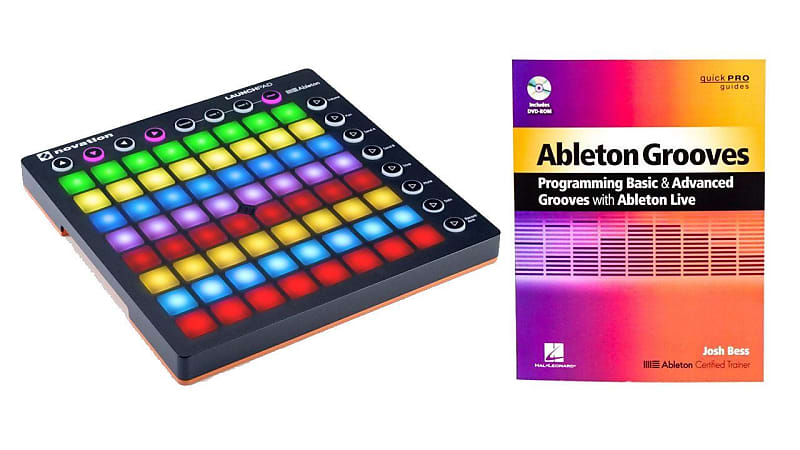Novation Launchpad (MK2) USB Grid Pad Controller w/ Ableton Grooves Book  Bundle