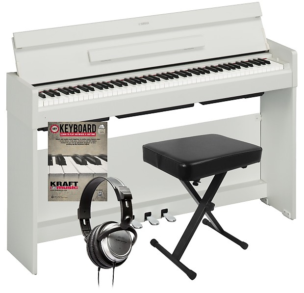yamaha arius ydp s34 digital piano white home essentials. Black Bedroom Furniture Sets. Home Design Ideas
