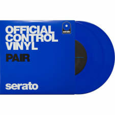 "Serato Performance 7"" DJ DVS Scratch Live Turntable Control Vinyl Pair - Blue"