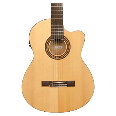 Jasmine JC25CE-NAT Classical Nylon String Acoustic-Electric Guitar, Natural for sale