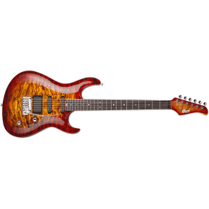 Cort G-Custom Cherry Red Sunburst Electric Guitar for sale