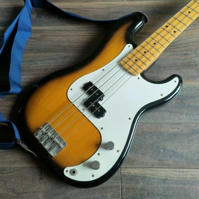 2004 History (Fujigen) Japan ZP-CFS Precision Bass (Brown Sunburst) for sale