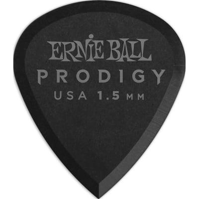 Ernie Ball 9200 Prodigy Mini Pick, 1.5mm, Black, 6 Pack for sale