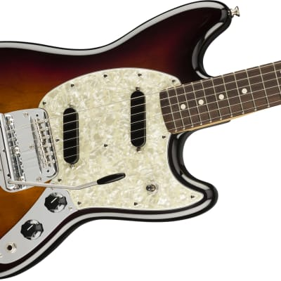 Fender American Performer Mustang Electric Guitar Rosewood Fingerboard, 3-Color Sunburst W/ Deluxe Gig Bag for sale