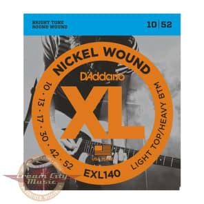 D'Addario EXL140 Nickel Wound Light Top/Heavy Bottom Electric Guitar Strings .010-.052