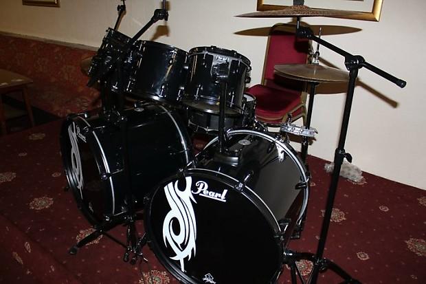 pearl slipknot joey jordison limited edition drum kit black reverb. Black Bedroom Furniture Sets. Home Design Ideas