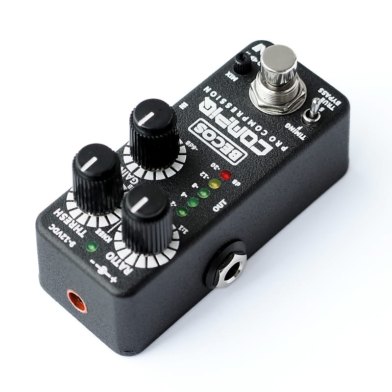 BECOS CompIQ MINI Pro Compressor Pedal For Guitar & Bass