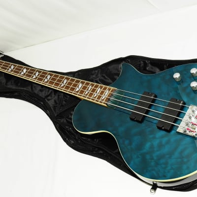 1990s Burny LSB-135 EMG Active Quilt Top Electric Bass Ref.No 2395 for sale