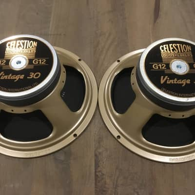 "PAIR of Celestion T3904 Vintage 30 12"" 60W 16 Ohm Speakers"