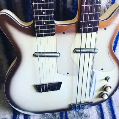 Danelectro 3923 Double Neck Guitar & Bass 1959 Copperburst