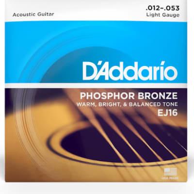 D'Addario EJ16 Phosphor Bronze Acoustic Guitar Strings Light