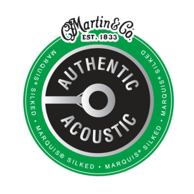 Martin MA150S Authentic Silked 80/20 Acoustic String Set, Medium 13-56