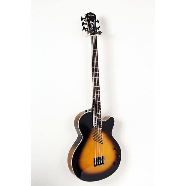 washburn ab45vsk cutaway acoustic 5 string bass vintage reverb. Black Bedroom Furniture Sets. Home Design Ideas