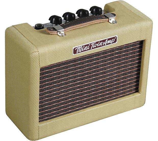 fender 57 39 twin mini portable tweed electric guitar reverb. Black Bedroom Furniture Sets. Home Design Ideas
