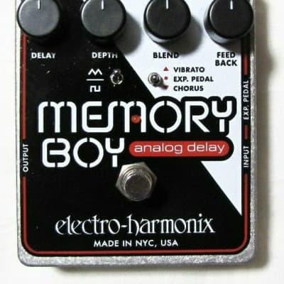 Used Electro-Harmonix Memory Boy Analog Delay w/ Chorus/Vibrato Effect Pedal!