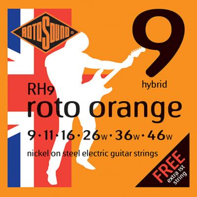 ROTOSOUND RH9 ROTO ORANGE HYBRID GUITAR STRINGS 9-46 for sale