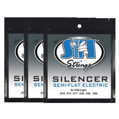 S.I.T. Strings SL1046 Silencer Electric Guitar Strings - 3 PACK