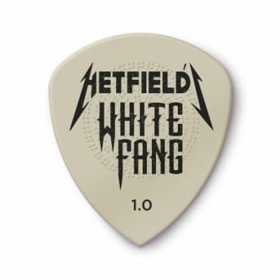 Dunlop Hetfield's White Fang Custom Flow Picks, Refill Bag, 24 pcs., white 1.00 mm