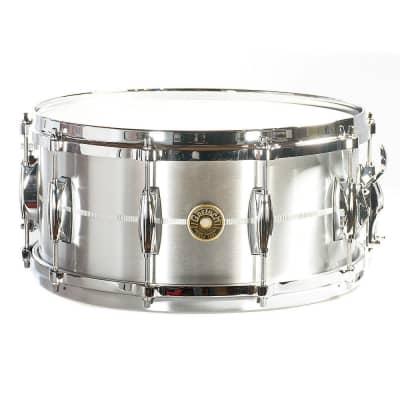 "Gretsch G4164SA USA Solid Aluminum 6.5x14"" 10-Lug Snare Drum"