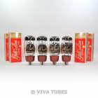 New Current Matched Quad (4) Reissue Genalex Gold Lion KT66 6L6 Vacuum Tubes image