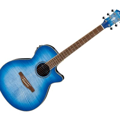 Ibanez AEG19IIOBB AE Acoustic-Electric Guitar Ocean Blue Burst Gloss for sale