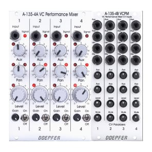 Doepfer A-135-4A/B VC Performance Mixer (2 Module Set)