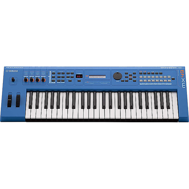 yamaha mx49 49 key synth usb midi controller keyboard blue reverb. Black Bedroom Furniture Sets. Home Design Ideas