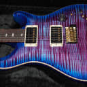 NEW! PRS Paul Reed Smith Custom 24-08 10-Top Killer TOP! Violet Blue Burst - Authorized Dealer WOW!