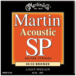 Martin MSP3150 SP Acoustic Guitar Strings - Light/Medium