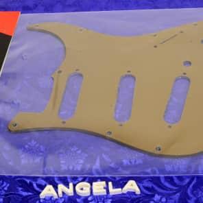 Genuine Fender Deluxe Stratocaster (Strat) Gold Plexi 1 Ply Pickguard 0063539000