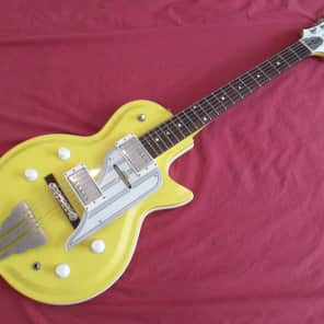 1996 Metropolitan Westport Guitar w/2 Rio Grande Pickups in Pearl Yellow for sale