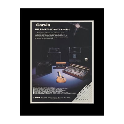 1978 Carvin Guitars and Amplifiers Original Magazine Ad Double Matted for 11 x 14 Frame