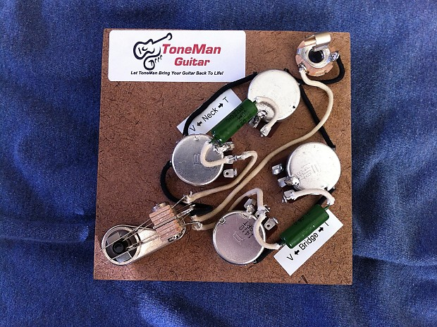 gibson sg 50 39 s prebuilt vintage wiring kit vintage reverb. Black Bedroom Furniture Sets. Home Design Ideas