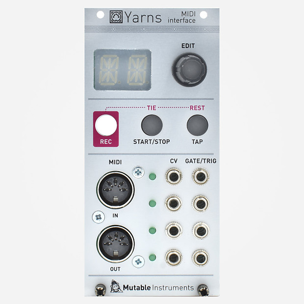 mutable instruments yarns eurorack midi to cv module