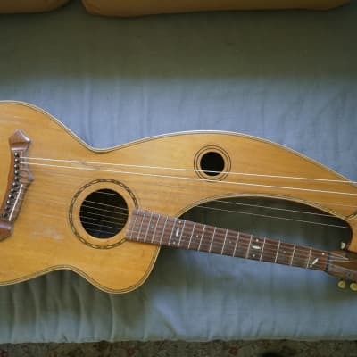 Knutsen Harp Guitar 1903 natural for sale