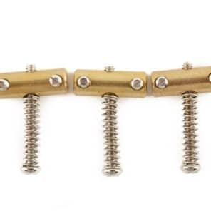 Genuine Fender American Vintage Telecaster Compensated Bridge Saddles Brass fits 3 Saddle Bridge