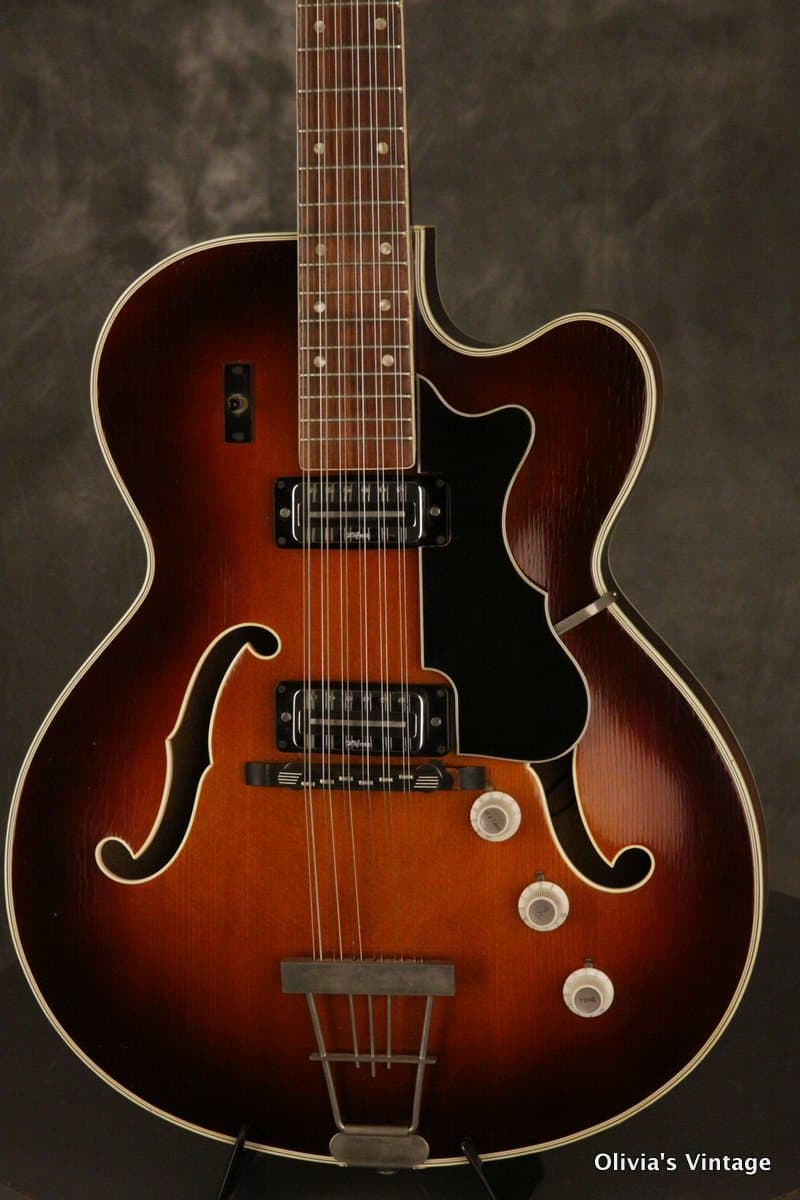 hofner 12 string president thinline hollowbody guitar 1960s reverb. Black Bedroom Furniture Sets. Home Design Ideas
