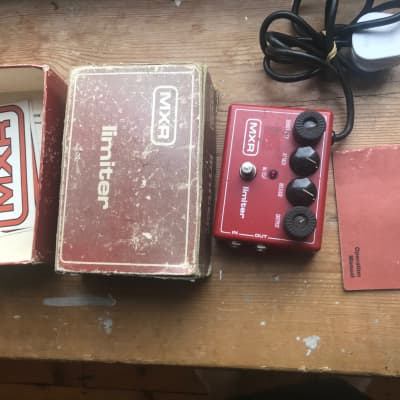Vintage 1970s 1980s MXR Limiter guitar pedal w orig box manual and stickers