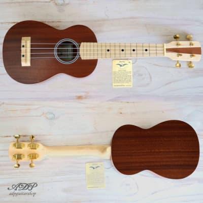 Soprano UKULELE Master Model Solid Mahogany Maple Neck Uke for sale