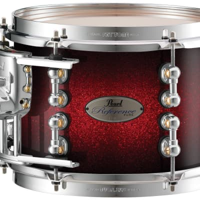 "Pearl Music City Custom Reference Pure 18""x14"" Bass Drum w/BB3 Mount RFP1814BB - Scarlet Sparkle Burst"